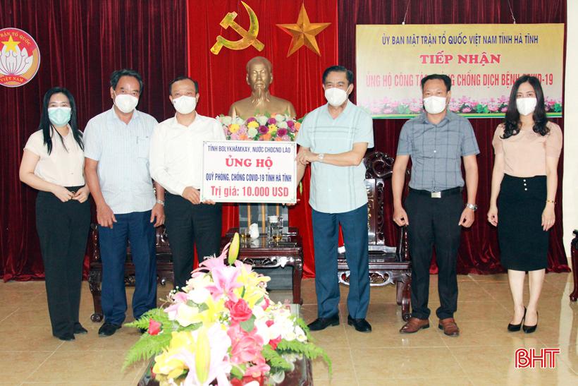 Tỉnh Bôlykhămxay hỗ trợ Hà Tĩnh phòng, chống dịch Covid-19
